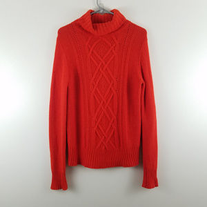 J Crew Cambridge Turtleneck Sweater Cable Knit